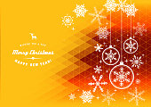 Vector of Christmas holidays snowflake background. EPS Ai 10 file format.