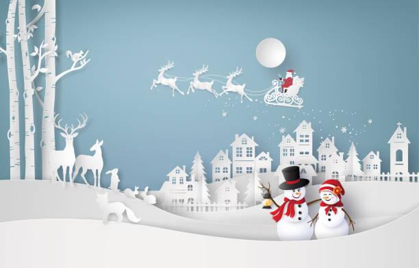 ilustrações, clipart, desenhos animados e ícones de feliz natal e inverno temporada - inverno