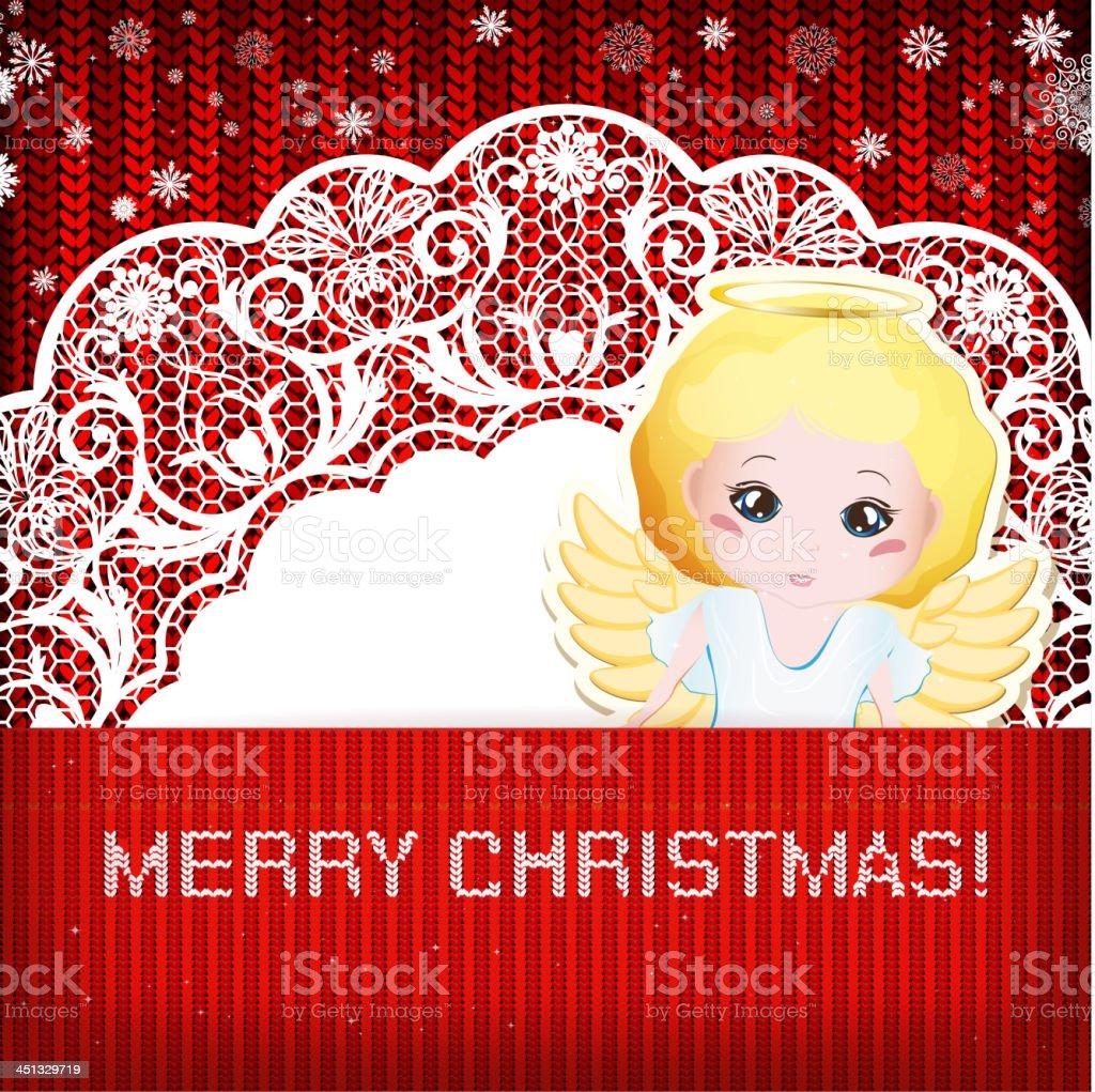 Merry Christmas Angel royalty-free stock vector art