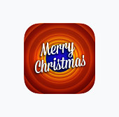 Merry Christmas app icon template