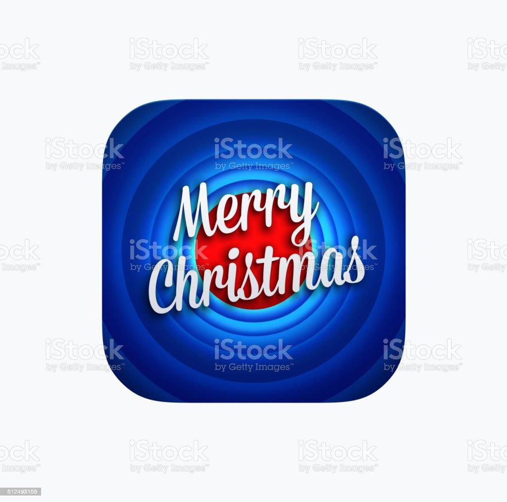 Merry Christmas app icon template vector art illustration