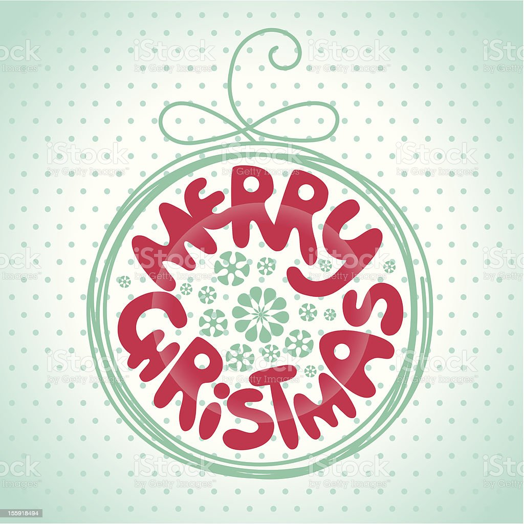 Merry Christmas сard royalty-free stock vector art