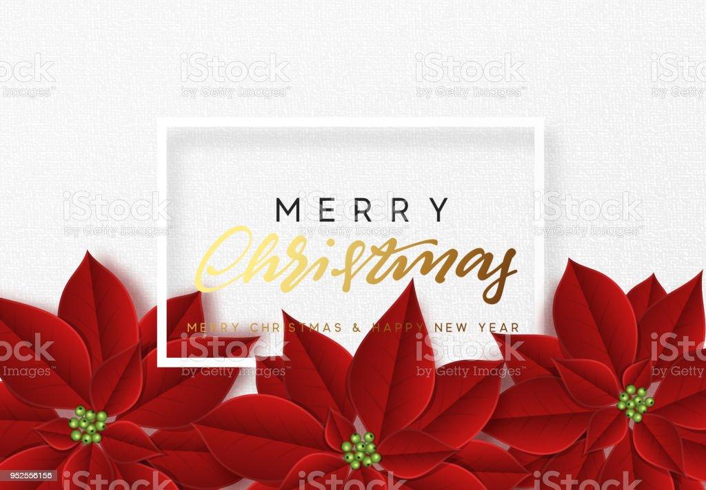 Ilustración de Feliz Navidad Fondo Decorado Con Hermoso Rojo ...