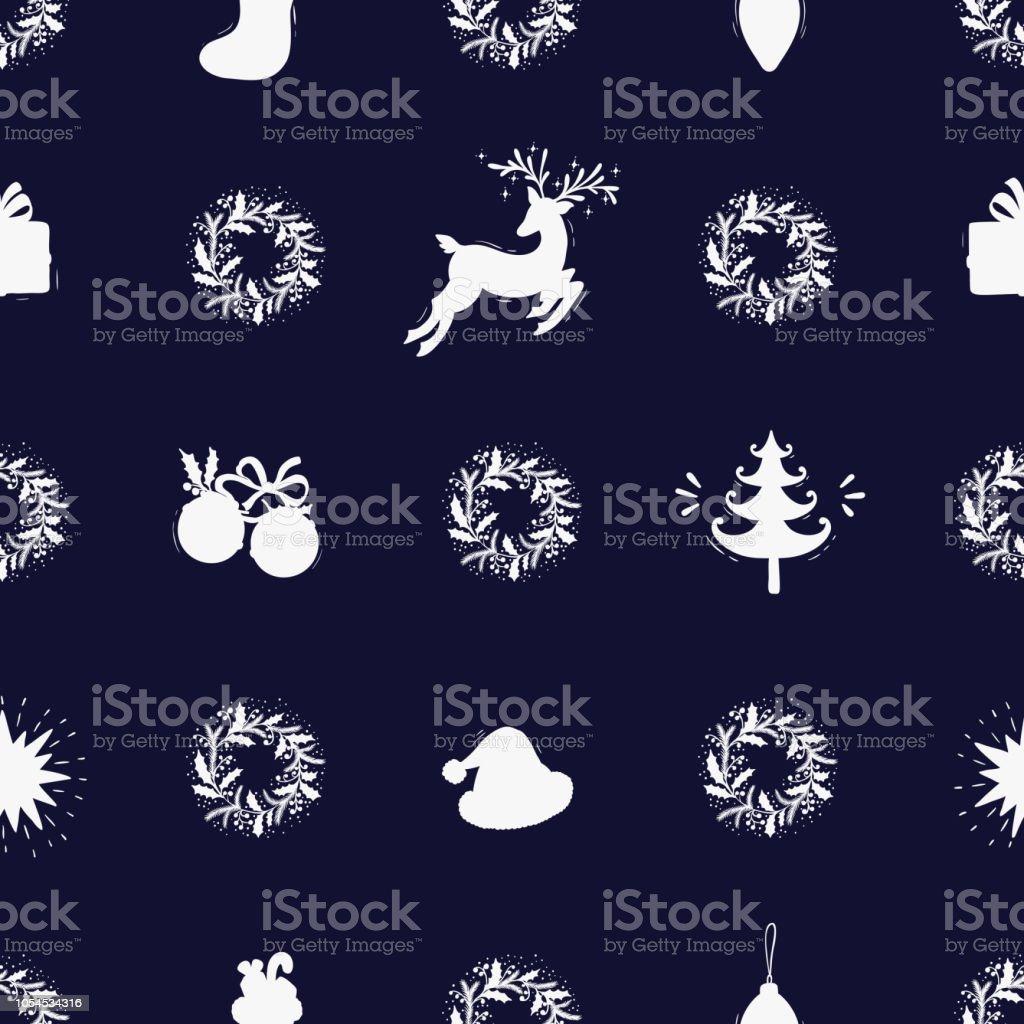 Merry Christmas Background Vacances Vecteur Seamless Pattern