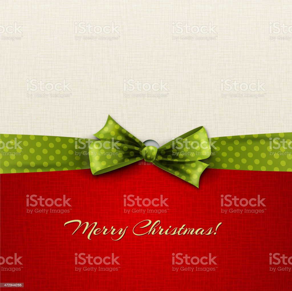 Merry Christmas background in white and red with green bow royalty-free merry christmas background in white and red with green bow stock vector art & more images of abstract