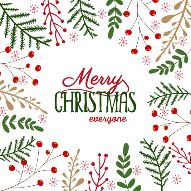 ilustrações de stock, clip art, desenhos animados e ícones de merry christmas background - christmas elements