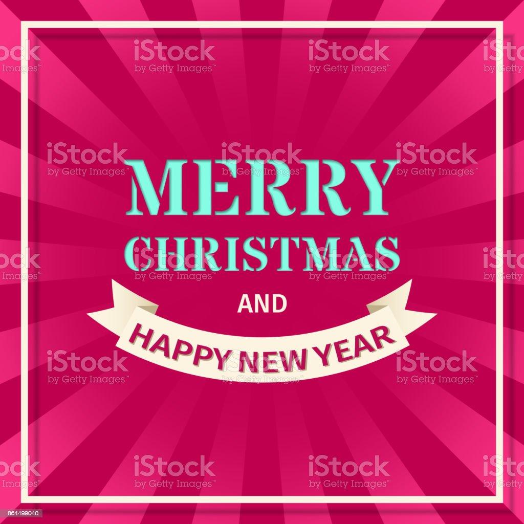 Merry Christmas background. Vector illustration vector art illustration