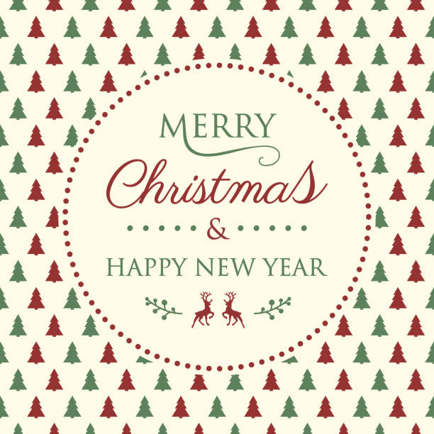 merry christmas background with christmas trees vector vector art illustration