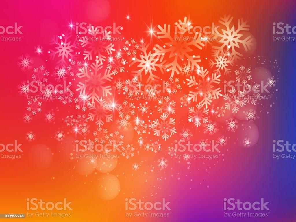 Frohe Weihnachten Hintergrund Mit Schnee Und Lichter Stock Vektor ...