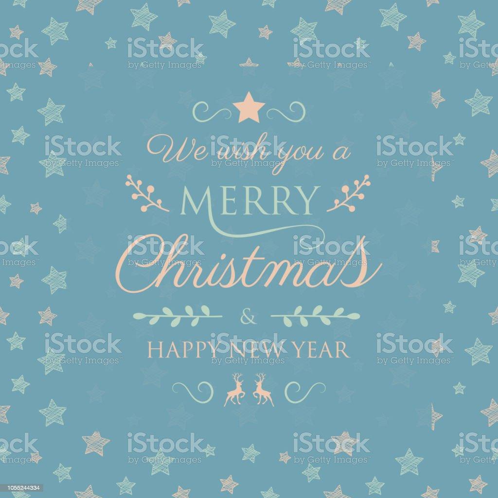 Frohe Weihnachten Hsv.Frohe Weihnachten Hintergrund Mit Sternen Vektor Stock Vektor Art