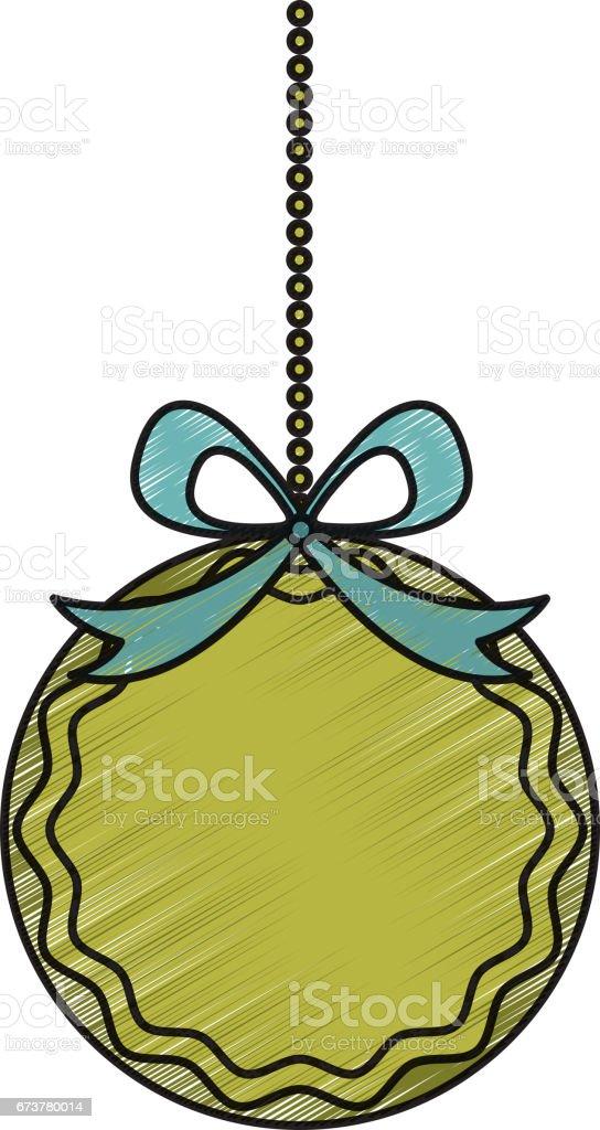 pendaison de ballon joyeux Noël pendaison de ballon joyeux noël – cliparts vectoriels et plus d'images de arts culture et spectacles libre de droits