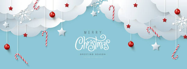 Merry Christmas banner or party invitation background .Merry Christmas vector text Calligraphic Lettering Vector illustration. vector art illustration