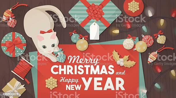 Merry christmas banner with cat vector id495800028?b=1&k=6&m=495800028&s=612x612&h=r4h f3qx00rfakxfqg9fucoo2mxeg4v40tbnrexi6jy=