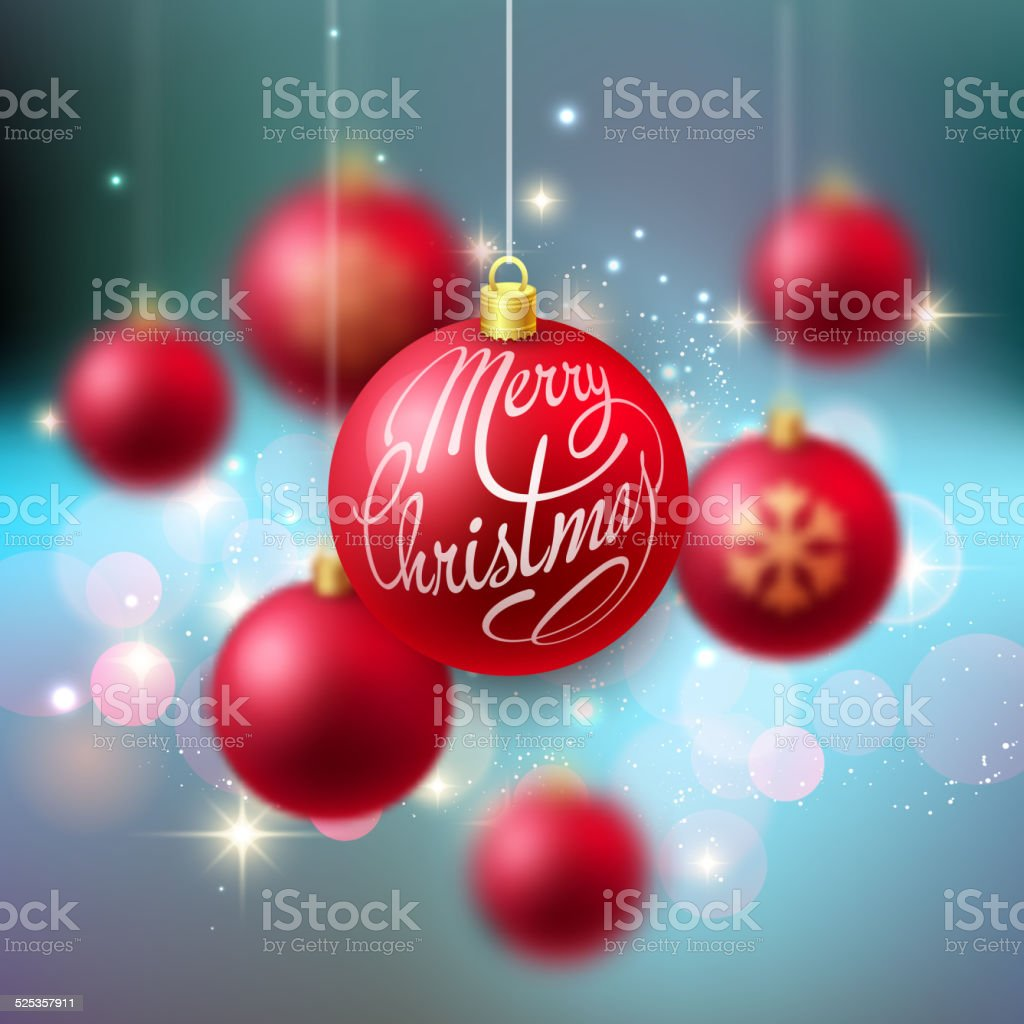 Merry Christmas Bauble Grußkarte Stock Vektor Art und mehr Bilder ...