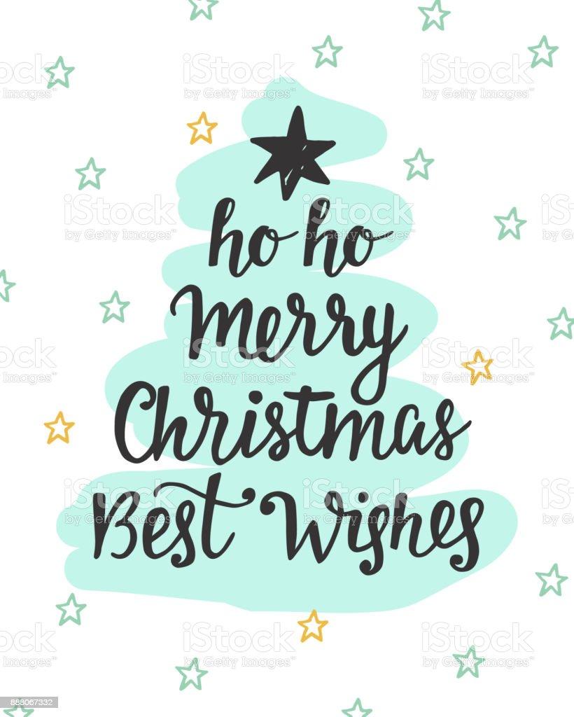 Weihnachten Grüße Bilder.Frohe Weihnachten Grüße Tanne Baum Inschrift Stock Vektor Art Und