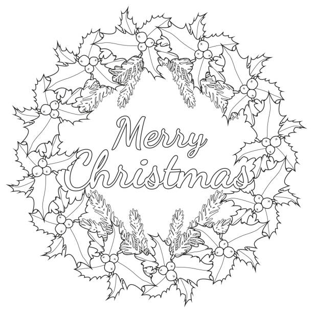 Royalty Free Coloring Page Outline Of Cartoon Christmas Ornaments