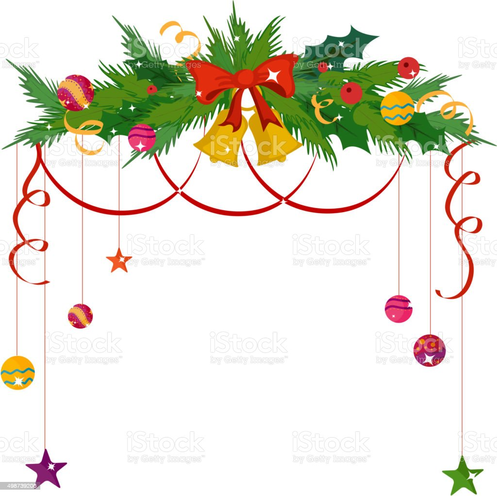 Merry Christmas Border And Decoration Frame Stock Vector Art & More ...