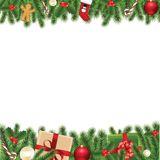 Merry Christmas Borders Merry Christmas Borders. Vector Illustration EPS10. Contains transparency.  candy clipart stock illustrations