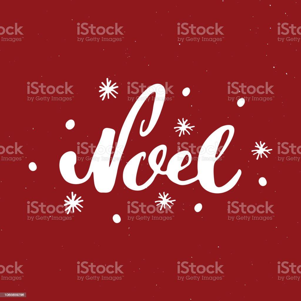 Vrolijk Kerstfeest Kalligrafische Belettering Noel Typografische