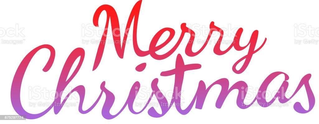 Weihnachtsgrüße Vorlage.Frohe Weihnachten Kalligraphische Logo Isoliert Auf Weiss Vektor