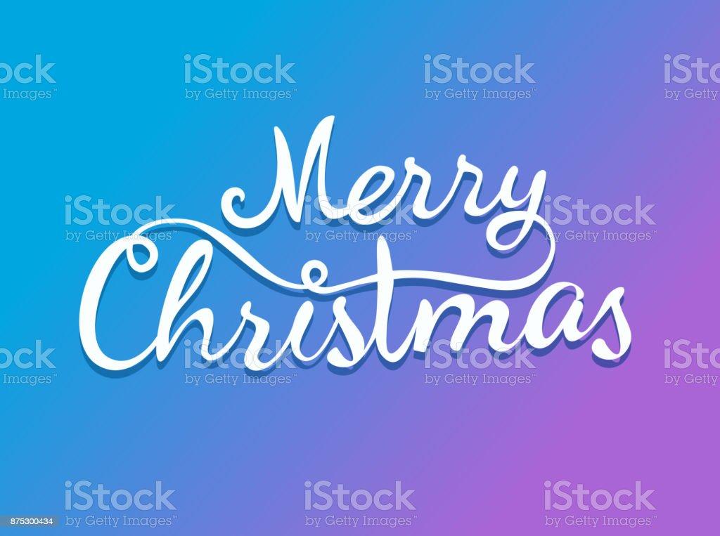 Weihnachtsgrüße Vorlage.Frohe Weihnachten Kalligraphische Logo Vektor Vorlage Für