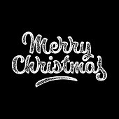 Merry Christmas Calligraphy Lettering Banner