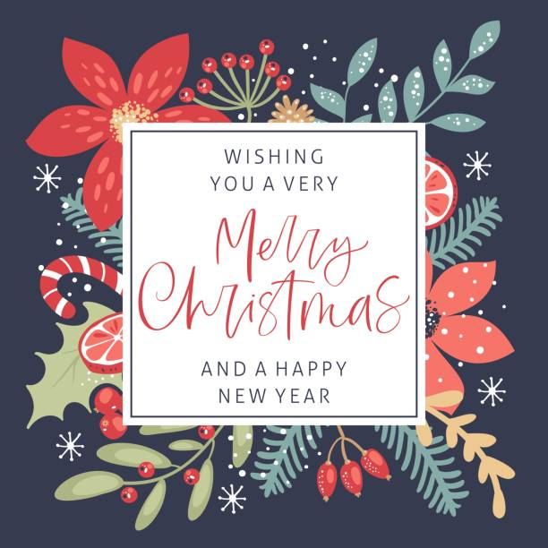 Merry Christmas calligraphy with hand drawn decorative frame. Vintage style. Merry Christmas calligraphy with hand drawn decorative frame. Vintage style. holidays and seasonal stock illustrations