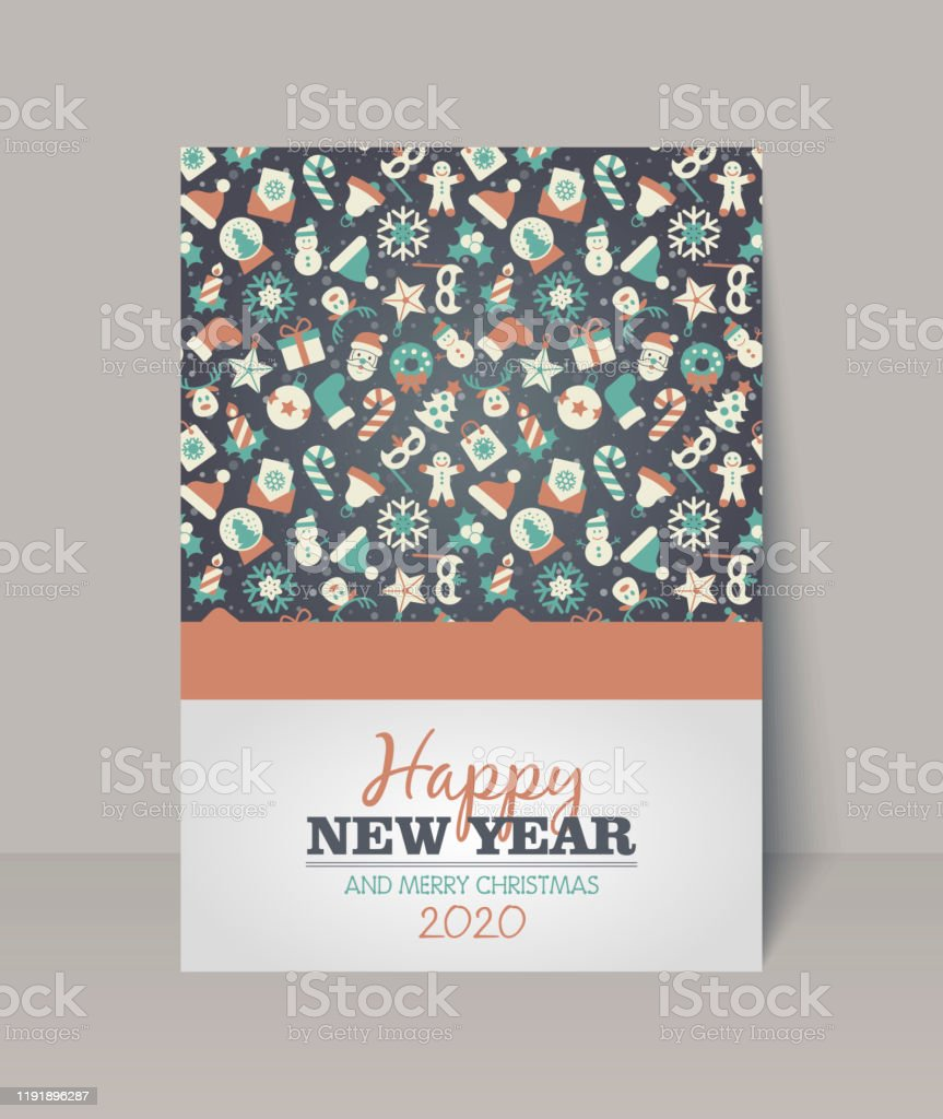 Merry Christmas Card Happy New Year Stock Illustration Download Image Now Istock