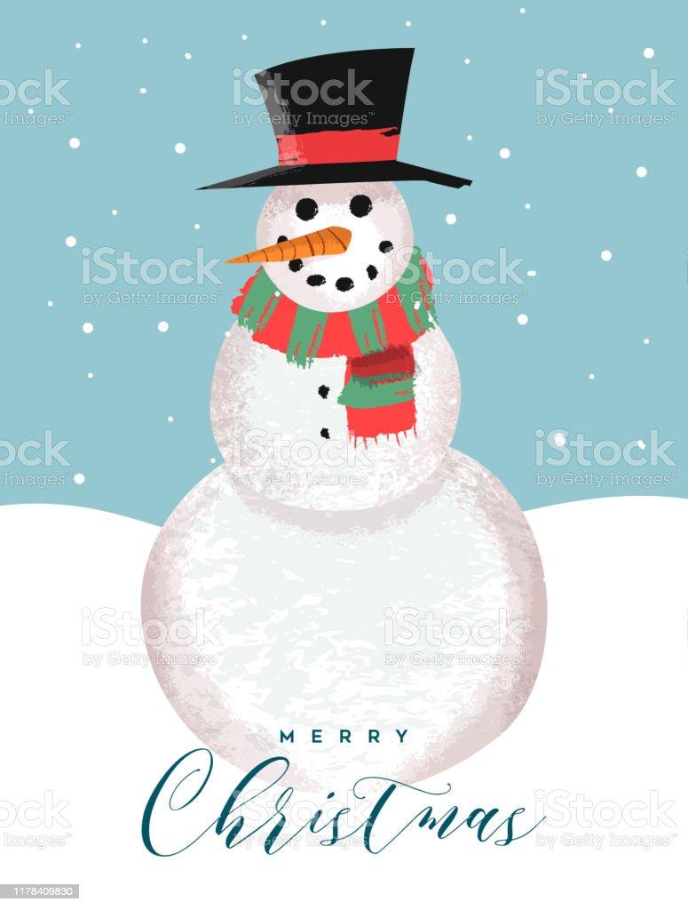 Vetores De Cartao Do Feliz Natal De Desenhos Animados Engracados