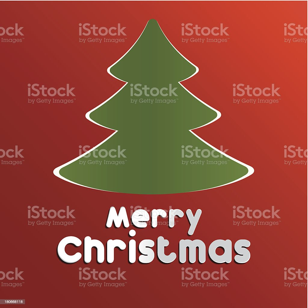 Merry christmas card royalty-free stock vector art