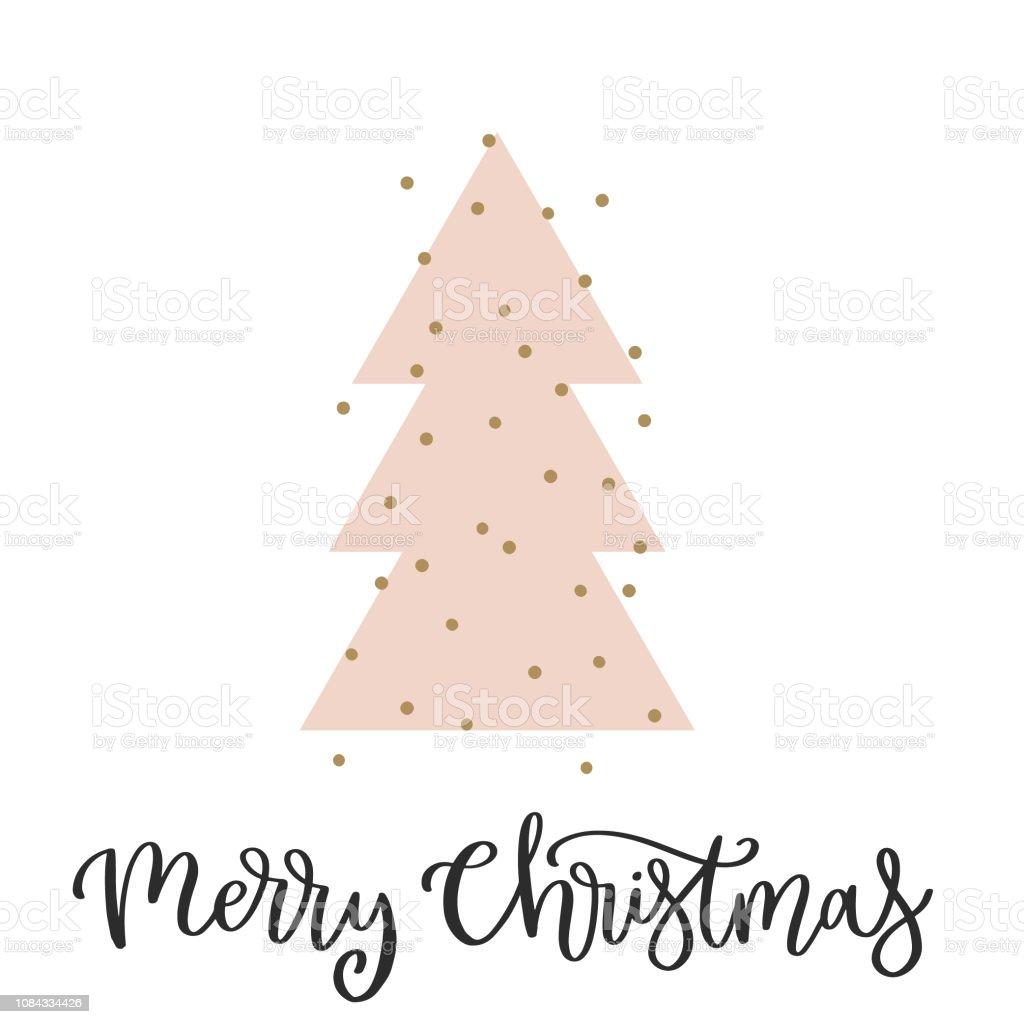 Ilustración De Tarjeta De Feliz Navidad Con La Caligrafía De