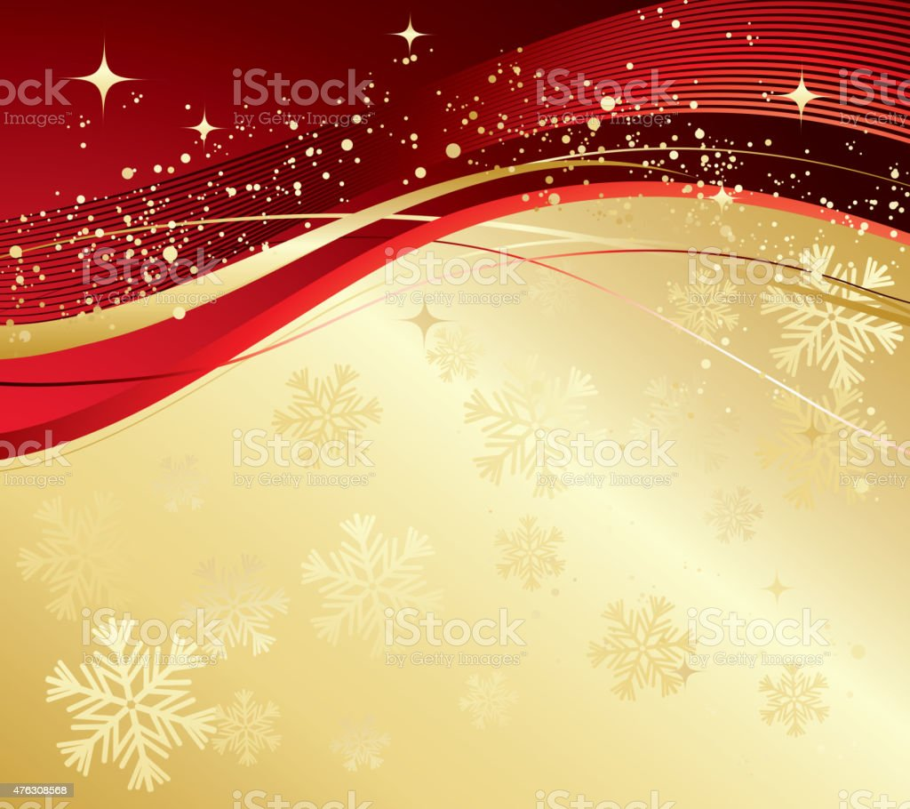 Merry Christmas Card With Gold Snowflakes Stock Vector Art & More ...