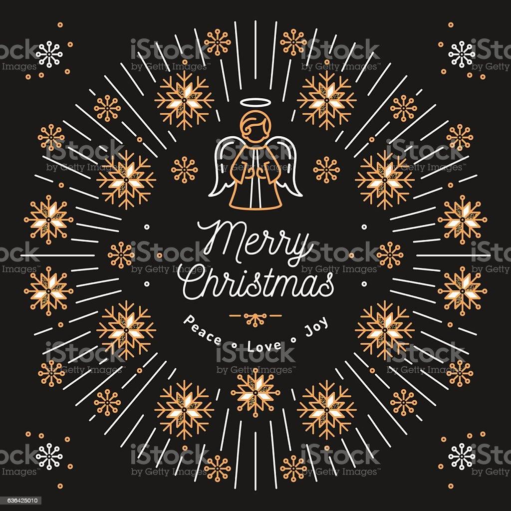 Merry Christmas Religious.Merry Christmas Card Xmas Religious Poster Snowflakes Trendy