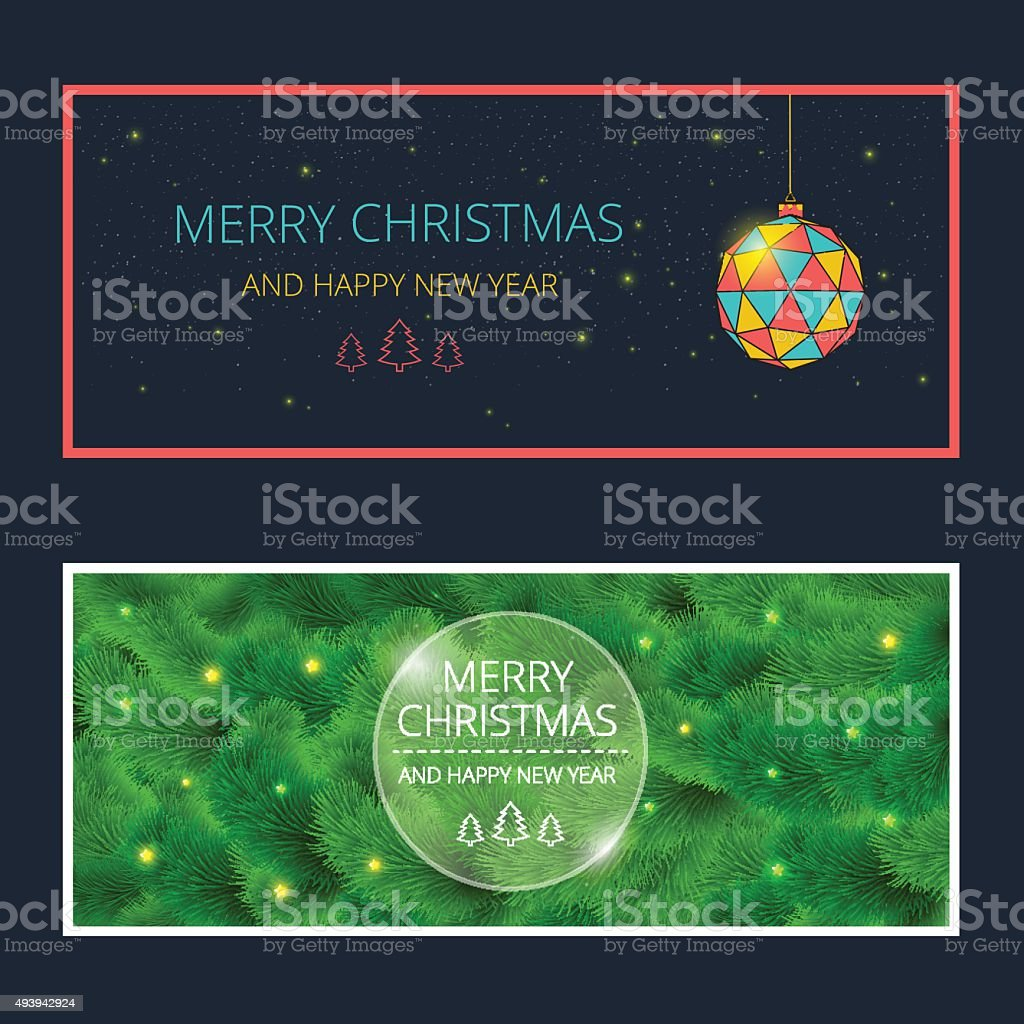 Merry Christmas Cards Stock Vector Art & More Images of 2015 ...