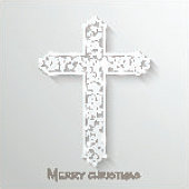 Merry Christmas celebration concept with Christian Cross.
