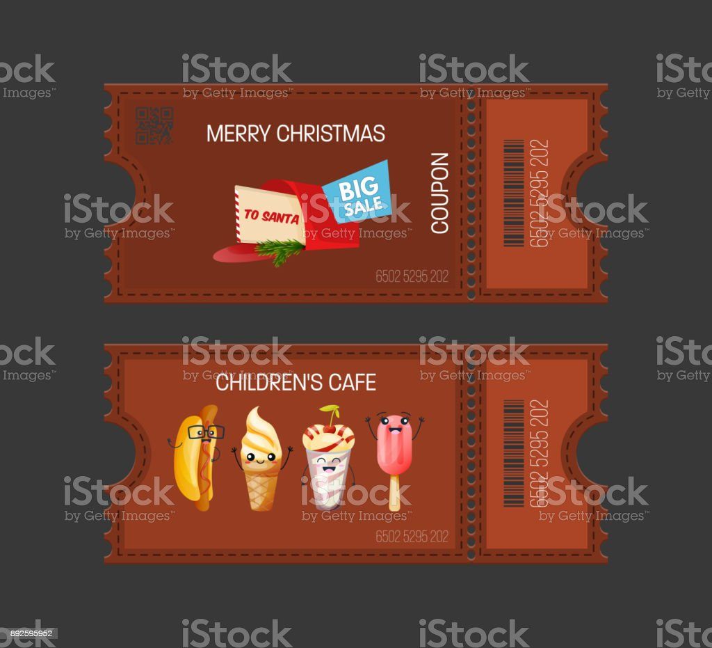 Merry Christmas Children S Cafe Concept Cakes Coupon Gift Voucher