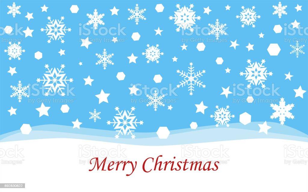 Frohe Weihnachten Brief.Frohe Weihnachten Weihnachtsgrusskarte Mit Schneeflocke Stock