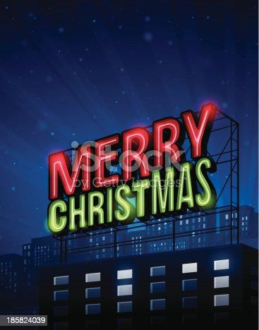 istock Merry Christmas City 185824039