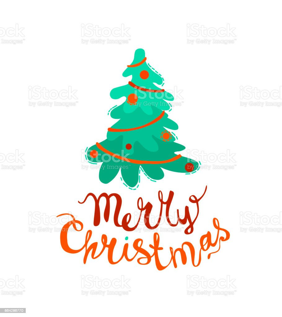 Merry Christmas congratulation card. Hand written inscription royalty-free merry christmas congratulation card hand written inscription stock vector art & more images of backgrounds
