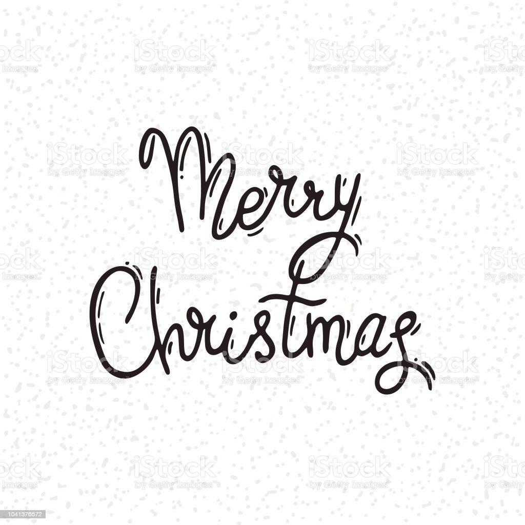 Merry Christmas Writing Clipart.Merry Christmas Congratulation Card Handwritten Modern Brush