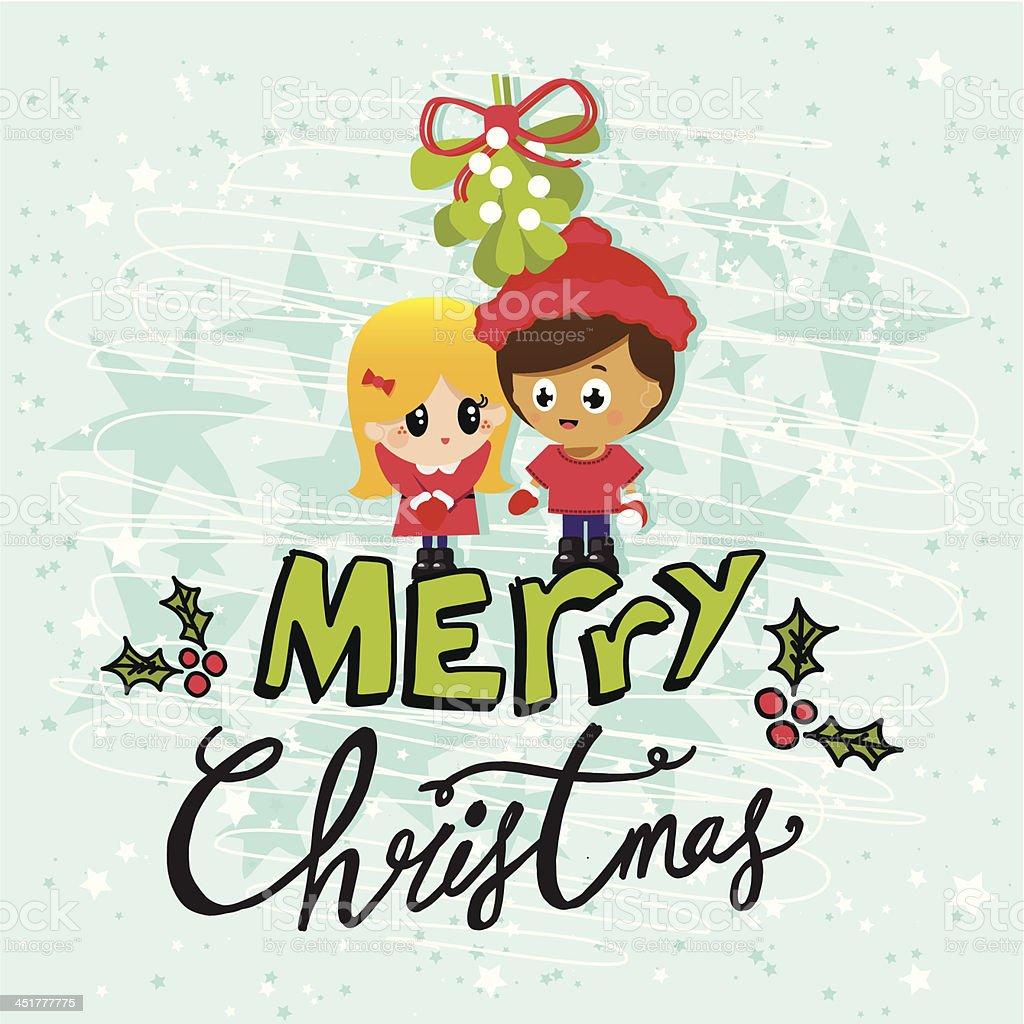 メリークリスマスのカップルに青色背景 のイラスト素材 451777775 | istock