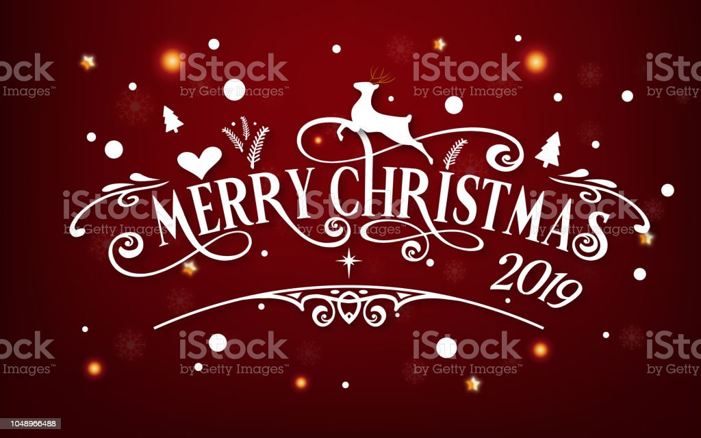 merry christmas day 2019 happy new year and xmas festival end year party message text