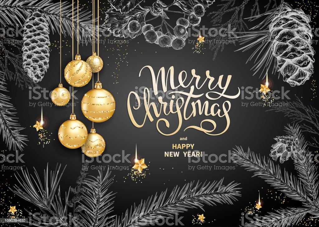 Merry Christmas Decoration 2019 Stock Vector Art More Images Of