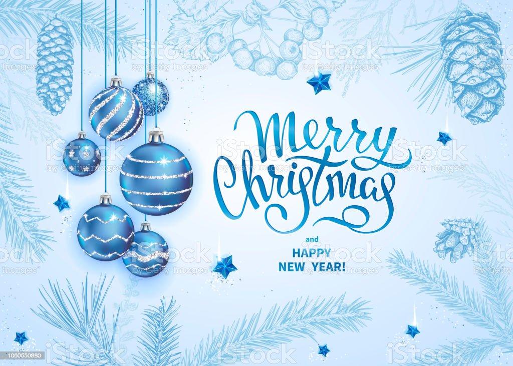 Merry Christmas decoration 2019 - illustrazione arte vettoriale