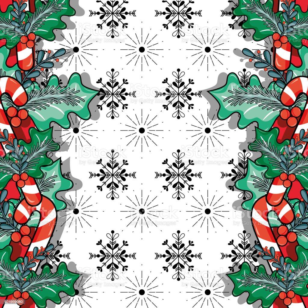 merry christmas decoration design to celebration vector art illustration