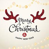 Merry Christmas Deer Antlers
