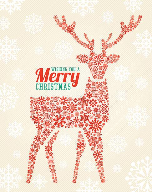 メリークリスマス鹿 - トナカイ点のイラスト素材/クリップアート素材/マンガ素材/アイコン素材