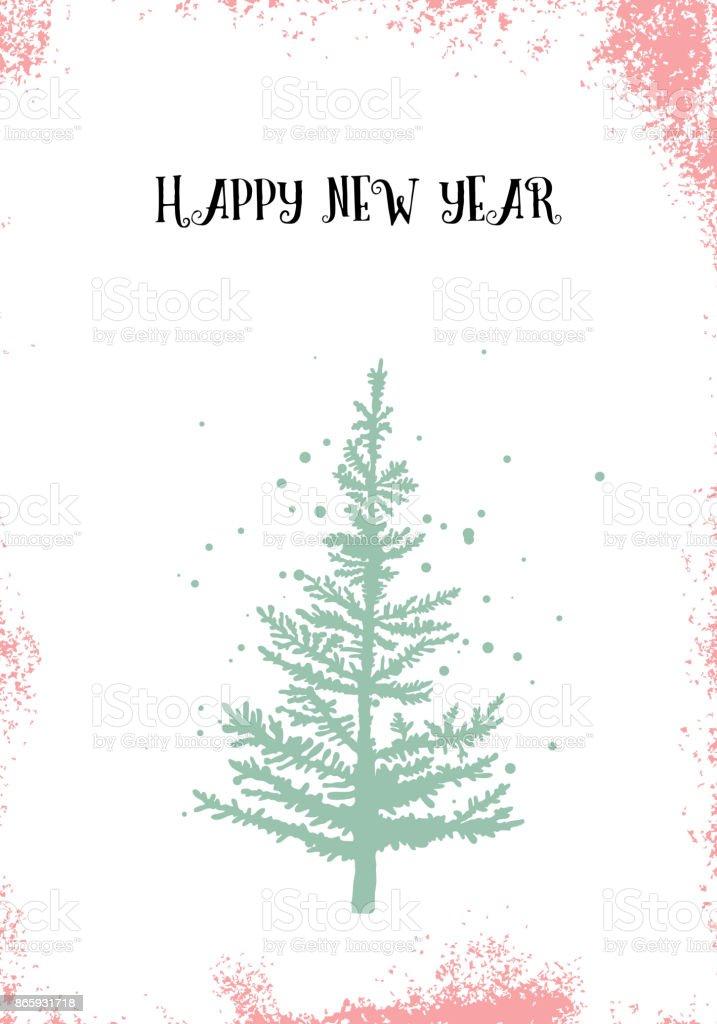 Ilustración de Diseño De La Feliz Navidad Caligrafía De Navidad En ...