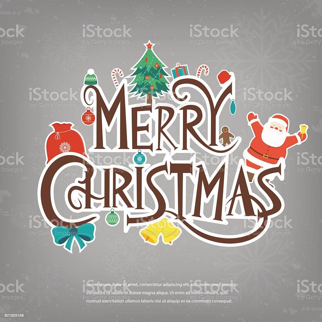 Merry Christmas design greeting card. Christmas background. Vector Lizenzfreies merry christmas design greeting card christmas background vector stock vektor art und mehr bilder von baum