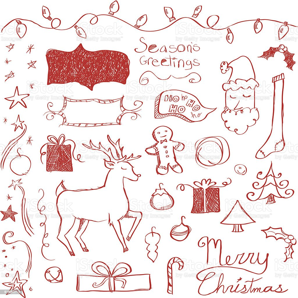 Merry Christmas Doodles royalty-free merry christmas doodles stock vector art & more images of adolescence